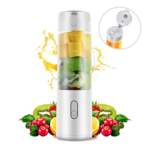 (Personal Blender, SEAPHY Light Weight Rapid Mixing Portable Blender Travel, Cordless USB Rechargeable Mini Blender Jucier Cup Shake and Smoothie, 350ml)
