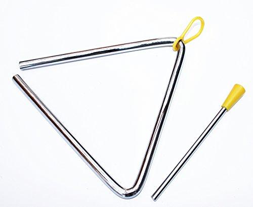 Triangel mit Haltegriff und Metallschlegel in verschiedenen Größen (250 mm / 10
