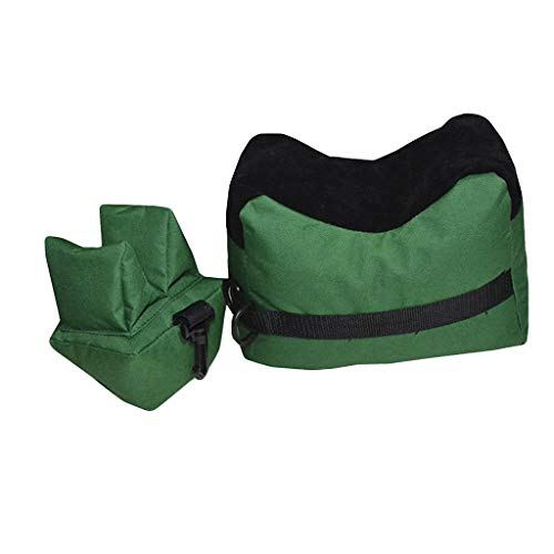 Fullwei Outdoor Shooting Rest Bags Target Sports Shooting Bench Rest Front & Rear Support Sandbag Stand Holders for Gun Rifle Shooting Hunting Photography (Green)