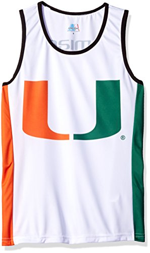 NCAA Miami Hurricanes RUN/TRI Singlet, White, - Triathlon Shop Miami