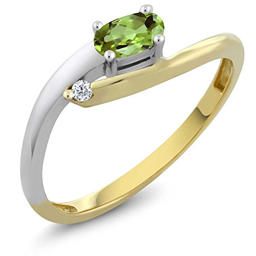 Two Tone Diamond Promise Ring - 6