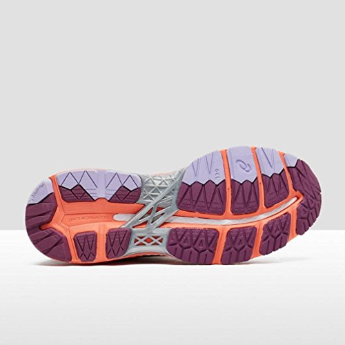 Asics T696n 3206, Zapatillas de Deporte Unisex Adulto Varios colores (Dark Purple /             Flash Coral /             White)