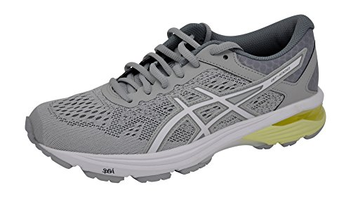 ASICS Women's GT-1000 6 Running-Shoes Grey/White/Grey, 10 B(M) US