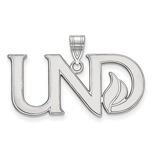 10k White Gold LogoArt Official Licensed Collegiate University of North Dakota (UND) Large Pendant by Logo Art