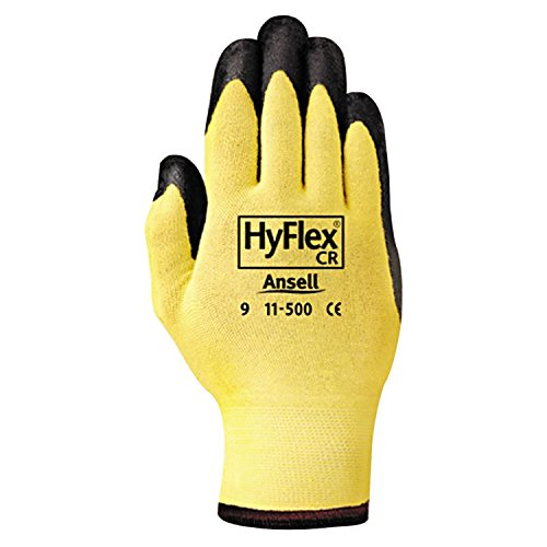 Ansell Hyflex Cr Glove - Ansell 11-500-10 HyFlex CR Gloves, Size 10 (Pack of 12)