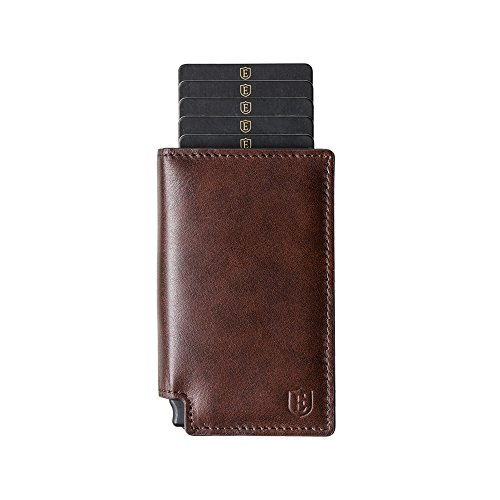 Ekster Parliament Wallet - Slim Leather Wallet - RFID Blocking - Quick Card Access - Premium European Leather - Classic - Mens European Fashion