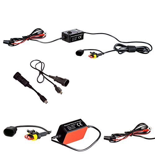 Ultimateaddons 2 Amp Fast Charger Hard Wire Motorcycle Battery Cable for Tomtom Rider v4 4.3'