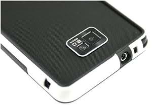 Nuevo!! Funda / Carcasa de Goma / Gel para Samsung i9100 Galaxy S2, Blanco y Negro BUMPER