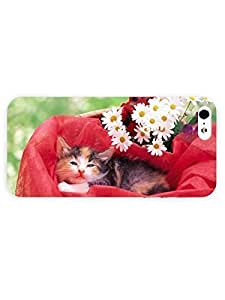3d Full Wrap Case for iPhone 5/5s Animal Beautiful Cat83 by runtopwell