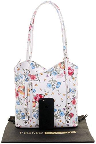 Floral dos en ou sac sac sac fabriqué Grand à main moyennes Sac et blanc la à main de rangement marque bandoulière un cuir italien à protecteur de nbsp;Versions nbsp;Comprend à grandes wXOE8Aq