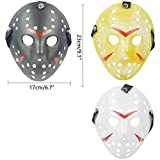 IronBuddy 3Pcs Jason Hockey Mask Costume Mask