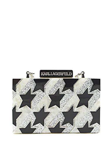 KARL LAGERFELD WOMEN'S 66KW3086 MULTICOLOR ACRYLIC CLUTCH