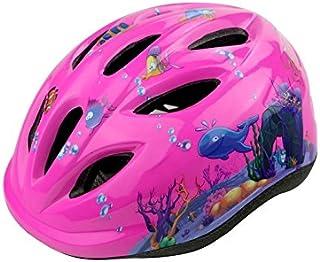 AHIMITSU Casco da Ciclismo Casco Protettivo Bimbo Modello con Casco Protettivo Regolabile Casco Protettivo Bimbo con Casco (Rosa) Articoli Sportivi