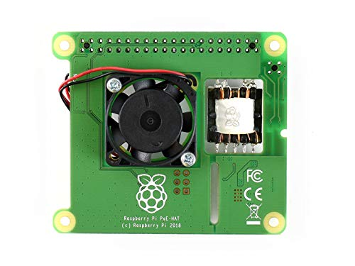 waveshare Raspberry Pi Power Over Ethernet HAT for Raspberry Pi 3B+ and 802.3af PoE Network