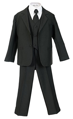 Avery Hill Boys Formal 5 Piece Suit Shirt Vest BK 3T ()