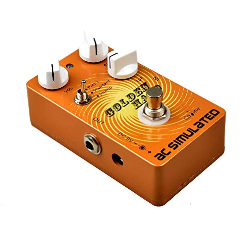 Caline Acoustic Simulator Pedal AC Simulated Guitar Effects Pedal with True Bypass Golden Halo CP-35 (Mooer Acoustikar Acoustic Guitar Simulator Effects Pedal)