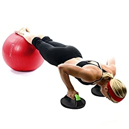 Gymforward Round Push Up Stands Rolling Core & Abdominal Training Push Up Bars Chest Arm Body Workout Sit-ups, 1pair