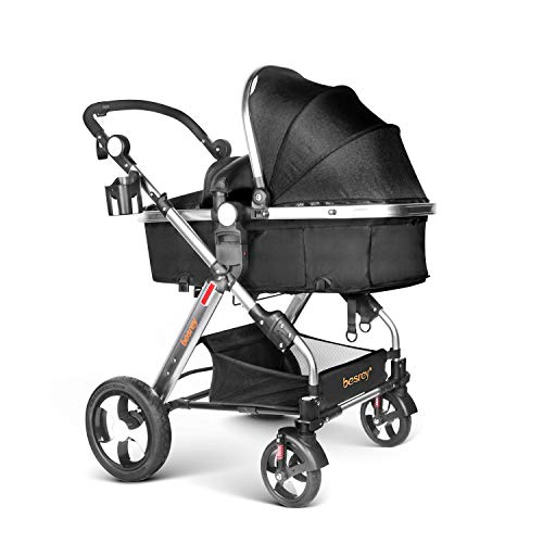Buy Cheap Besrey 2 in1 Luxury Newborn Baby Stroller for Infant Folding Convertible Baby Carriage - B...