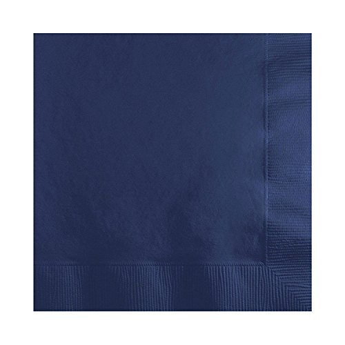 (Solid Navy Beverage Napkins (100-Pack))