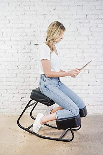 Sleekform Amsterdam Kneeling Chair | Rocking Balance Knee Stool for Bad Backs, Neck & Shoulders Tension | Thick Cushions for Comfortable Rocking | Improves Blood Circulation | Great for Office & Home