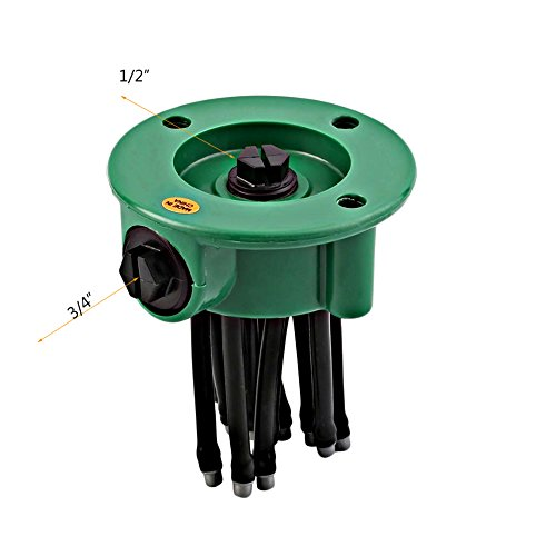 LLAMEVOL Lawn Sprinkler System 360 Direction Adjustable Nozzle Noodles Head Outdoor Sprinklers Parts 12 Hose Spray Watering for Yard Ground Flower bed Garden Plants Grass Irrigation Kit 2 Pack by by LLAMEVOL (Image #2)