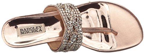 Badgley Mischka Womens Trent Dress Sandalo Oro Rosa