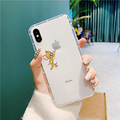 for iPhone X & XS & XR & XS MAX - Tom Jerry Japanese Anime Transparent 3D Relief TPU Air Cushion Cover Phone case for iPhone 7 Plus 8 X 6S 6 Plus XS Max XR - by ANNELE - 1 PCs (Pokemon Tablet Case 7 Inch)