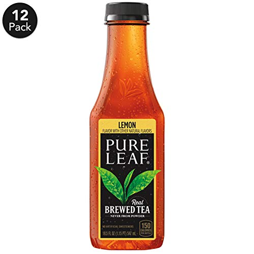 (Pure Leaf Iced Tea, Lemon, Sweetened, Real Brewed Black Tea, 18.5  Fl. Oz Bottles (Pack of 12))