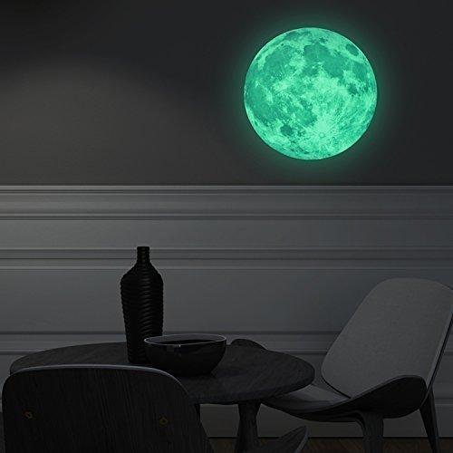 Stickers muraux de Guet phosphorescent en Lune amovible Autocollant Art Stickers Papier peint en vinyle D/écoration de la Maison