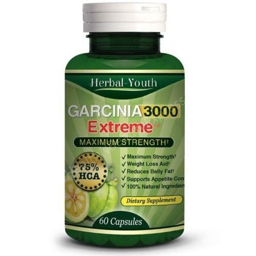 3000mg Daily ◆ Garcinia Cambogia Capsules HCA 75% Natural Diet Weight Loss Pills