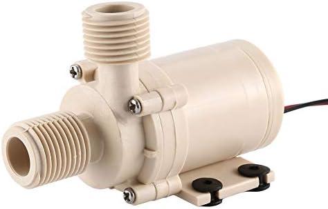 Jullyelegant 12V 3M Solar Water Pump Circulation Brushless Motor 212 F w//Coupler Hot//Cooling Water Circulation Pump for Home Solar Systems Khaki