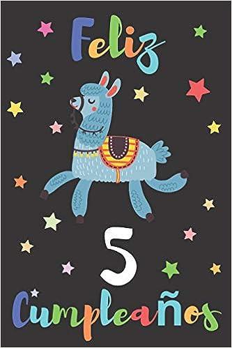 Feliz 5 Cumpleaños: Regalo para Niños o Niñas de 5 Años ...
