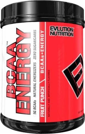 Evlution Nutrition BCAA Energy - Energizing Amino Acid for Muscle Building, Recovery, and Endurance, Fruit Punch, 70 Servings