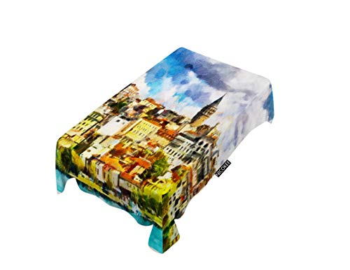 NICOKEE Polyester Decorative Tablecloth Cityscape Rectangle Table Cloth Istanbul Bosphorus Galata Historical Landmarke Landscape Tourism Table Cover for Kitchen Dinning Party End Table Protection