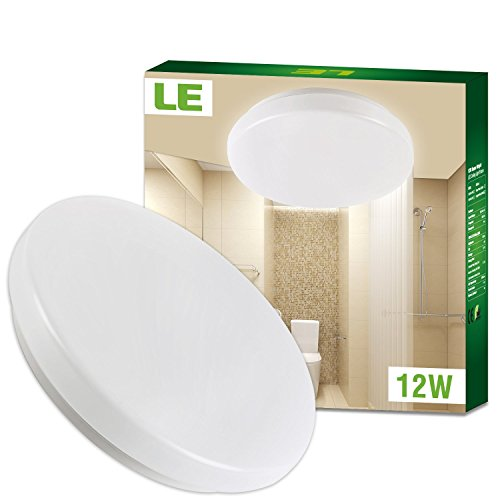 LE 12W 11-Inch Warm White LED Ceiling Lights, Waterproof IP44, 100W Incandescent (22W Fluorescent) Bulbs...