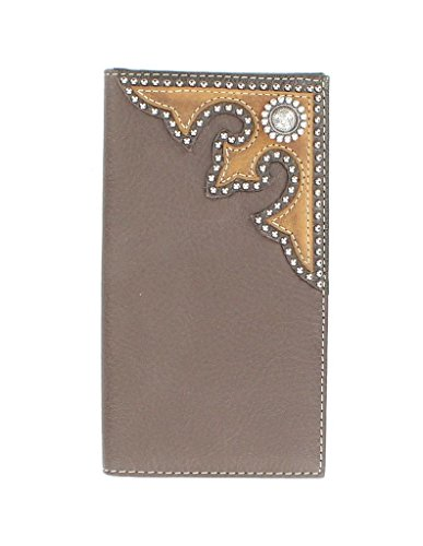 Nocona Round Boots - Nocona Men's Rodeo Round Concho Nailheads Wallet, Brown, OS