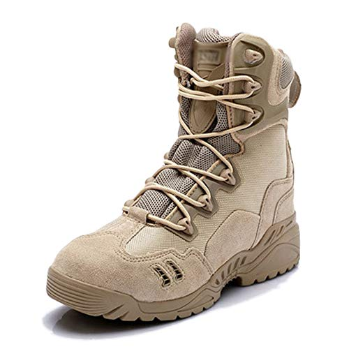 LDZY High-top Da Uomo Stivali Da Combattimento Desert Desert Camping Tactical Boots Atletico Tan Jungle Hiking Patrol Boots Khaki