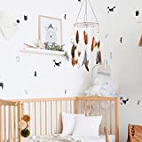 Boho Feather Baby Mobile for Crib, Bohemian Nursery