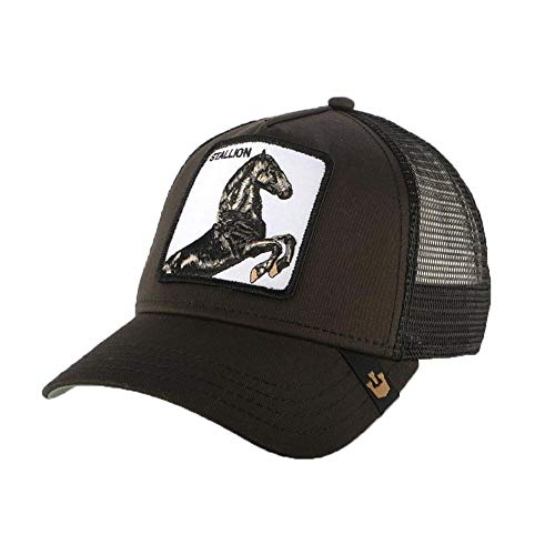 Goorin Bros. Men's Animal Farm Snap Back Trucker Hat, Black Horse, One Size