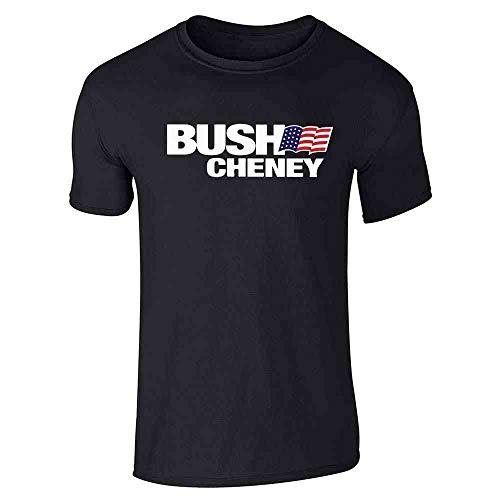 - Pop Threads George W Bush Dick Cheney President Campaign Retro Black L Short Sleeve T-Shirt