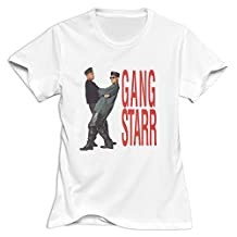 Gang Starr Slim Fit T Shirts For Woman White XL