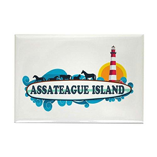 CafePress Assateague Island VA Rectangle Magnet, 2