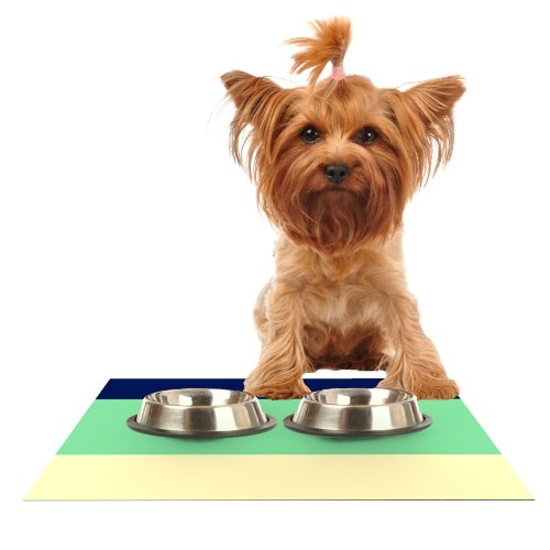 Kess InHouse Catherine McDonald South Pacific  Feeding Mat for Pet Bowl, 18 by 13-Inch