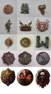 A Song Of Ice And Fire Of Thrones Jeu Badges Broche