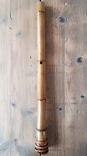 jugar instrucciones/ /bamb/ú Shakuhachi bolsa /1,8/Shaku/ D /Flauta tradicional japonesa /