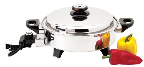 Precise Heat 3-1/2-Quart Surgical Stainless-Steel Oil Core Skillet, Comparable to Salad Master!