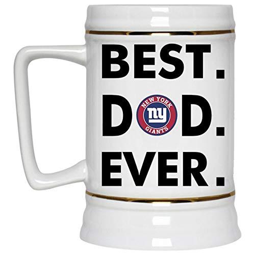 - Best Dad Ever Beer Mug, New York Giants Logo Beer Stein 22oz, Birthday gift for Beer Lovers (Beer Mug-White)