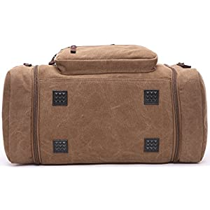 Nornou Large Capacity Weekend Bag Travel Duffel Bag Oversized Shoulder Handbag Luggage Case Coffee