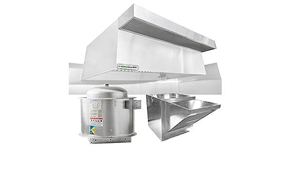 Amazon Com Hoodmart Restaurant Hood System With Psp Makeup Air 12 Foot X 48 Inch Appliances