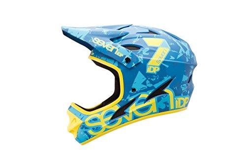 7iDP M1 Helmet, Matt Blue Camo/Yellow, Large